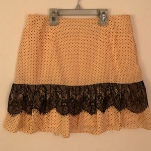 Light Peach w/ Black Lace Skirt